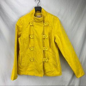 MOSSIMO velvet pea coat in daffodil size XL